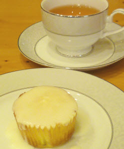 Lemon cupcake with lemon topping