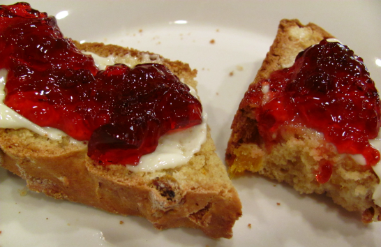 Soda Bread witih Butter and Jelly